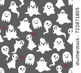 ghost pattern background | Shutterstock .eps vector #722871805