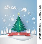 merry christmas greeting card... | Shutterstock .eps vector #722873131