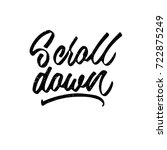 scroll down. ink hand lettering....