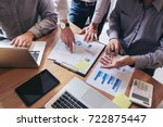 business team meeting working... | Shutterstock . vector #722875447