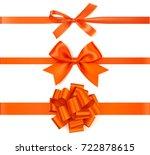 Set Of Decorative Orange Bows...