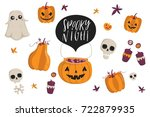 halloween fashion quirky... | Shutterstock .eps vector #722879935