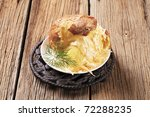 Baked Potato With Two Kinds Of...
