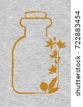 a bottle with essential oil of...   Shutterstock .eps vector #722883454