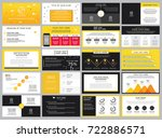 yellow and black presentation... | Shutterstock .eps vector #722886571