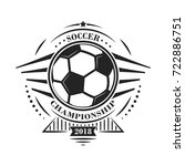 soccer championship logotype or ... | Shutterstock .eps vector #722886751