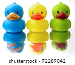 Three Rubber Duckys