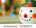 Smiley Face Of Mr. Snowman Wit...