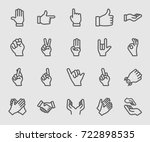 hands collection line icon | Shutterstock .eps vector #722898535