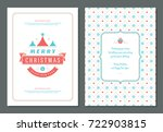 christmas greeting card design... | Shutterstock .eps vector #722903815