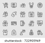 gift line icon | Shutterstock .eps vector #722905969