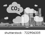 co2 emissions by big city... | Shutterstock .eps vector #722906335