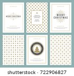 merry christmas greeting cards... | Shutterstock .eps vector #722906827