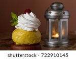 french dessert sovereign or rum ... | Shutterstock . vector #722910145
