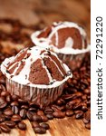 chocolate muffins with coffee | Shutterstock . vector #72291220