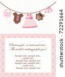 baby girl invitation | Shutterstock .eps vector #72291664