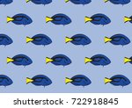 surgeon fish pattern   Shutterstock .eps vector #722918845
