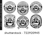 set of vintage mountain labels... | Shutterstock .eps vector #722920945