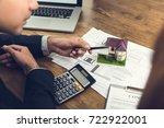 housing developer agent... | Shutterstock . vector #722922001