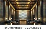 3d rendering luxury lobby hotel | Shutterstock . vector #722926891