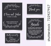 vector wedding collection.... | Shutterstock .eps vector #722927917