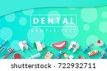 dental banner background... | Shutterstock .eps vector #722932711