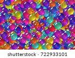 seamless bright violet spheres... | Shutterstock . vector #722933101