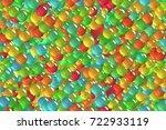 seamless festival lime green... | Shutterstock . vector #722933119