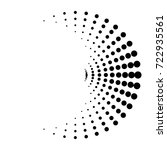 halftone dots in circle form.... | Shutterstock .eps vector #722935561