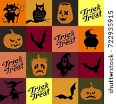 halloween seamless pattern.... | Shutterstock .eps vector #722935915