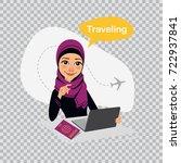 travel illustration on... | Shutterstock .eps vector #722937841