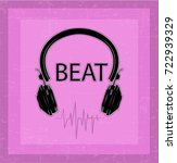 beat slogan graphic with... | Shutterstock .eps vector #722939329