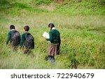 nepalese school children in... | Shutterstock . vector #722940679