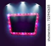 shining retro billboard... | Shutterstock .eps vector #722942635