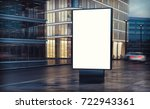 white billboard on the street... | Shutterstock . vector #722943361