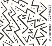 abstract black on white zigzag... | Shutterstock .eps vector #722946319