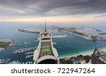dubai  uae   jan 15  2017  palm ... | Shutterstock . vector #722947264