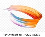 color brushstroke oil or... | Shutterstock .eps vector #722948317