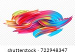 color brushstroke oil or... | Shutterstock .eps vector #722948347