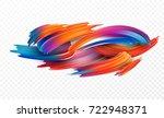 color brushstroke oil or... | Shutterstock .eps vector #722948371
