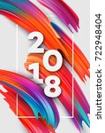 2018 new year on the background ... | Shutterstock .eps vector #722948404