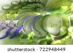 Blue Green Fractal With A Quot...