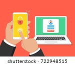 two steps authentication...   Shutterstock .eps vector #722948515