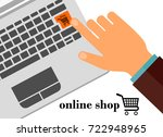 online shop.    Shutterstock . vector #722948965