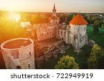 aerial view of beautiful ruins... | Shutterstock . vector #722949919