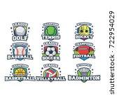 9 sport icon logo vector | Shutterstock .eps vector #722954029