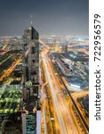sheikh zayed highway and office ... | Shutterstock . vector #722956579