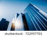 low angle view of skyscrapers... | Shutterstock . vector #722957701