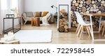 warm multifunctional room with... | Shutterstock . vector #722958445