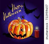 pumpkin halloween. vector... | Shutterstock .eps vector #722959657